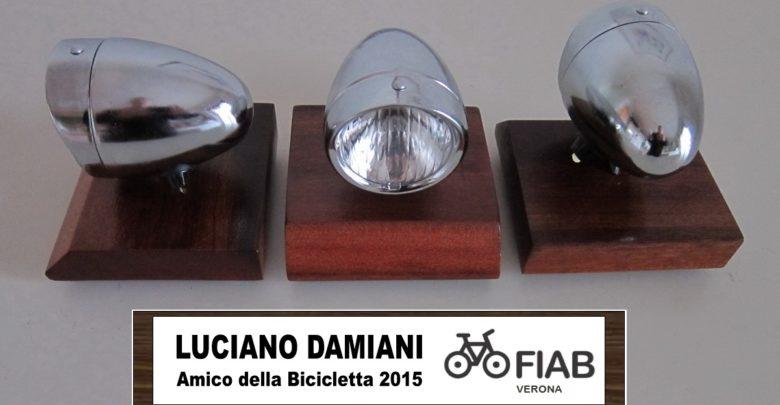 """Photo of A Luciano Damiani il premio """"Amico della Bicicletta 2015"""""""
