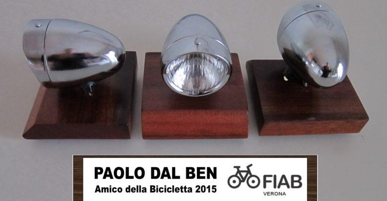 """Photo of A Paolo Dal Ben il premio """"Amico della Bicicletta 2015"""""""