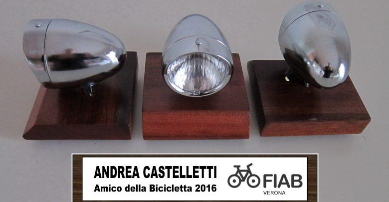"""Photo of Ad Andrea Castelletti il premio """"Amico della Bicicletta 2016"""""""