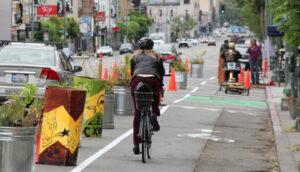 New York - Esempio di urbanismo tattico - Ciclabile popup