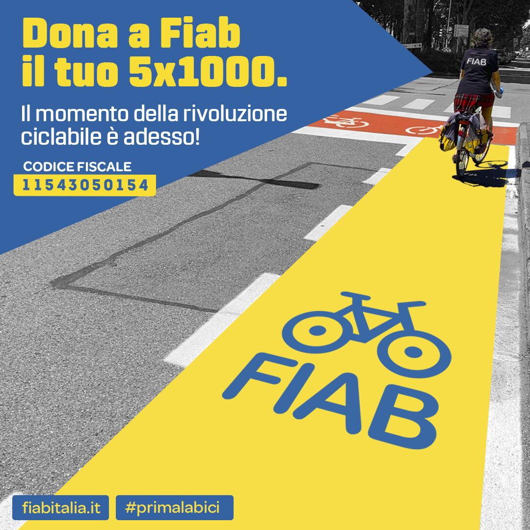 FIAB #5x1000 Sostienici - Dona a FIAB (campagna 2021) Instagram quadrata